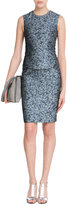 Bouchra Jarrar Cloque Pencil Skirt