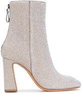 Alexandre Birman metallic heeled ankle boots