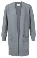 Ya-Ya Cotton Ribbed Cardigan With Folded Pockets - XS. | cotton | sea blue melange