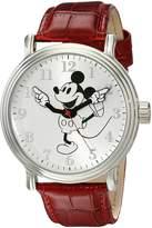 Disney Men's W001864 Mickey Mouse Analog Display Quartz Red Watch