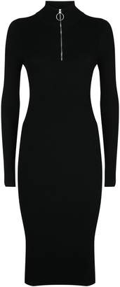 AllSaints Lacey Rib Zip-Up Dress