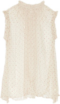 Zimmermann Ruffle-trimmed floral-print silk-chiffon top