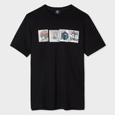 Paul Smith Men's Black Organic-Cotton 'Mascots' Print T-Shirt