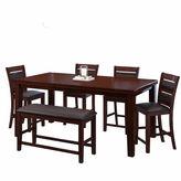 Asstd National Brand 6-pc. Counter Height Extendable Dining Set