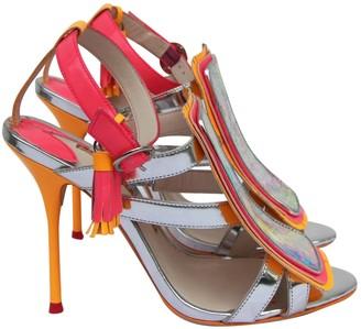 Sophia Webster Orange Leather Sandals
