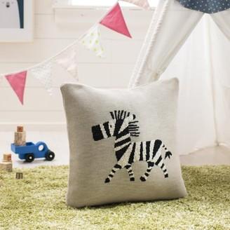Safavieh Zazu The Zebra Baby Pillow, Grey/Natural/Black