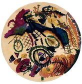 """Momeni Rugs NEWWANW-07IVY790R New Wave Collection, 100% Wool Hand Carved & Tufted Contemporary Area Rug, 7'9"""" Round"""