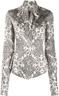 Gianfranco Ferré Pre-Owned 1990s Pussy-Bow Blouse