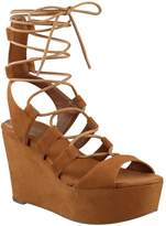 GUESS Women's Denaya Lace-Up Flatform Sandals