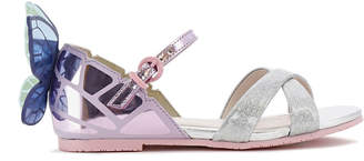 Sophia Webster Chiara Mirror Leather Butterfly Wing Sandals, Toddler/Kids