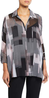 Kenneth Cole New York Abstract High-Low Cape