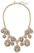 Banana Republic Beaded Floral Shine Statement Necklace