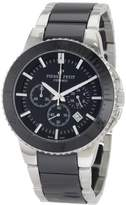Pierre Petit Men's P-809A Serie Colmar Black Ceramic and Stainless-Steel Bracelet Chrono Watch
