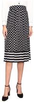 Kate Spade Dot Stripe Pleated Skirt
