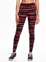 Old Navy Go-Dry High-Rise Printed Compression Leggings for Women