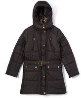 Dollhouse Black Hooded Puffer Coat - Toddler & Girls