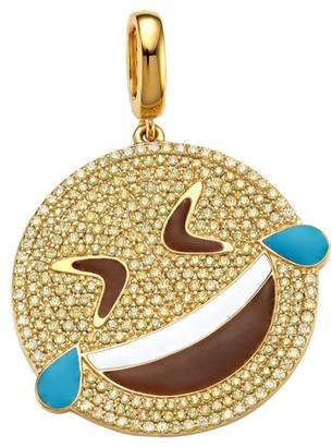 Judith Leiber 14K Goldplated Sterling Silver & Cubic Zirconia LOLZ Emoji Charm
