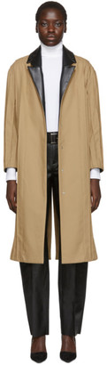 Pihakapi Beige and Black Pinched Seam Trench Coat