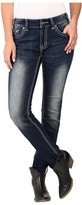 Rock and Roll Cowgirl Mid-Rise Skinny in Dark Vintage W1S7387