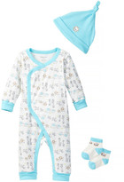 Absorba Kimono Coverall, Hat, & Socks Set (Baby Boys)