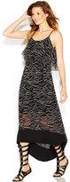 Kensie Layered High-Low Maxi Dress