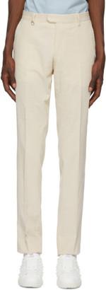 Ermenegildo Zegna Off-White Corduroy Trousers