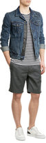Closed Pleated Linen-Cotton Shorts