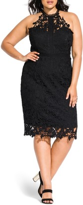 City Chic Victorian Lace Cocktail Dress