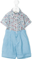 Cashmirino - shirt and Bermuda short set - kids - Cotton/Linen/Flax - 3 mth