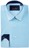 Report Collection Geo Print Slim Fit Dress Shirt