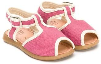 Pépé Contrast Trim Sandals