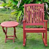 Beachcrest Home Bristol 2 Piece Patio Chair and Table Set Color: Barn Red