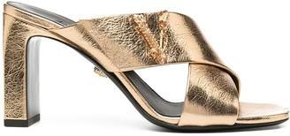 Versace V-logo chunky-heel mules