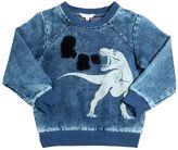 Little Marc Jacobs T-Rex Printed Bleached Cotton Sweatshirt