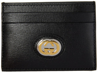 Gucci Black GG Marina Card Holder
