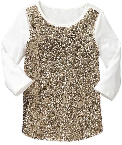 Gap Metallic sequin-embellished top