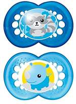 Mam Original 12+ Months Soother, Blue 2 per pack - Pack of 2