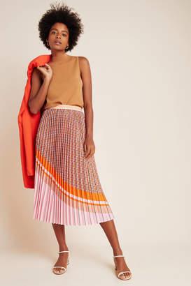 Eva Franco Edwina Pleated A-Line Midi Skirt