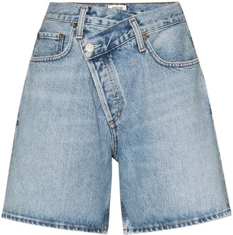 AGOLDE Wrap Waist Denim Shorts