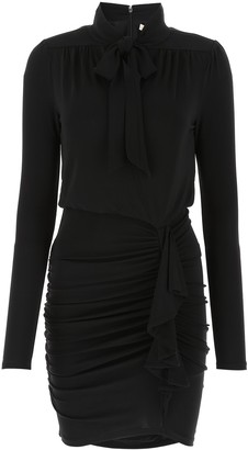 MICHAEL Michael Kors Matte Tie-Neck Dress
