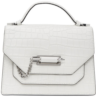 Mackage White Croc Keeley Messenger Bag