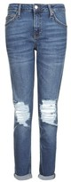 Topshop MOTO Dark Blue Ripped Lucas Jeans