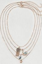 American Eagle Outfitters AE Abalone Charms Layered Necklace