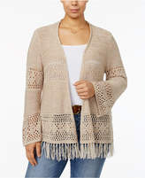 Style&Co. Style & Co Plus Size Open-Front Cardigan, Only at Macy's