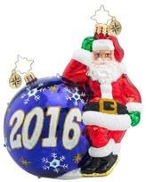 Christopher Radko 'Having A Ball 2016' Santa Ornament