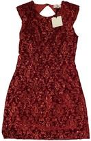 Vicolo Red Velvet Dress for Women