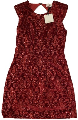 Vicolo Red Velvet Dress for Women
