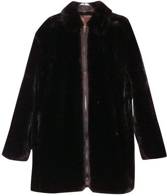 Fendi Black Faux fur Coat for Women Vintage