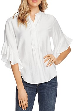 Vince Camuto Pintucked Flutter-Sleeve Blouse