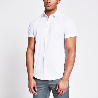 River Island White short sleeve regular fit shirt